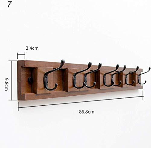 FF Muur opknoping haak, pak van 2 haken, 15 houten muur opknoping haken, plank, duurzame badjas, kledinghaken (grootte: 6)