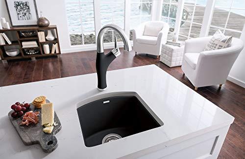 "BLANCO, Anthracite 440204 DIAMOND SILGRANIT Drop-In or Undermount Bar Sink, 15"" X 15"""