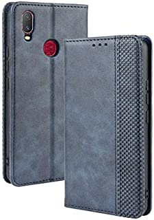 YHUISEN PU Leather+Soft Inner Design Business Magnetic Closure Flip Wallet Protective Case Cover for Vivo Y11 (2019) (Color : Blue)