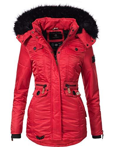 Navahoo Damen Winter-Jacke Winter-Mantel Steppmantel Schätzchen Rot Gr. XXL