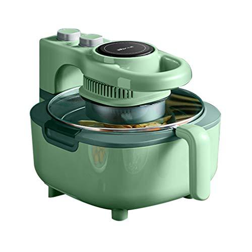 Freidoras Hogar Aire Completamente Automática Eléctrica Sin Aceite Máquina Inteligente De Papas Fritas 5L De Gran Capacidad (Color : Green, Size : 28 * 29.8 * 25cm)