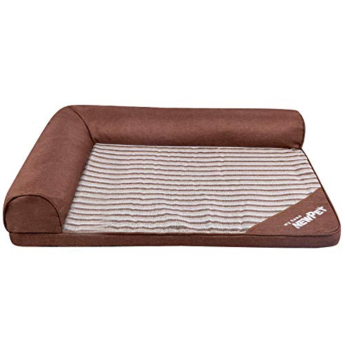 LIAOER Pet Bed, Cat Bed, Dog Bed, Sleep Rest Bed for Cats and Dogs, Indoor Pet Cushion Pillow Pet Blanket, Removable and Washable Small Pet Sofa Bed-Coffee stripes
