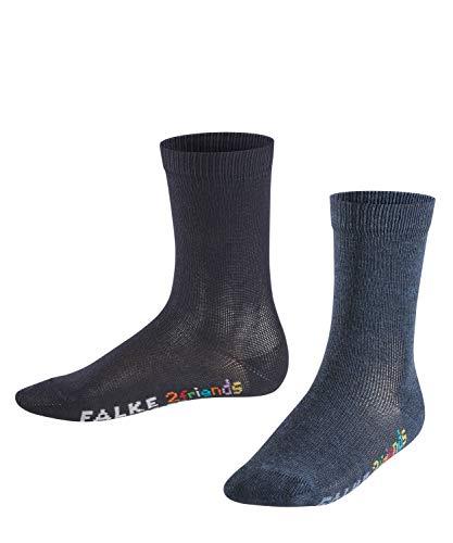 Falke Kinder Socken 2friends, 2er Pack, Mehrfarbig (Blue/Navy 20), 27-30