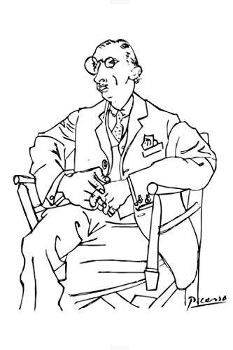 Pablo Picasso Lgor Stravinsky Portrait T Shirt Reproduction Notebook: (110 Pages, Lined, 6 x 9)