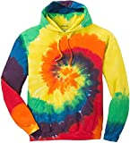Joe's USA Hoodies Tie-Dye Hooded Sweatshirt,Small Rainbow Tie-Dye