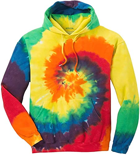 Joe's USA Hoodies Tie-Dye Hooded Sweatshirt,Medium Rainbow Tie-Dye
