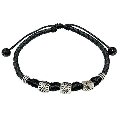 Ruluti Cuir Perles Anklet Bracelet Bracelets De Cheville Tissés pour Femmes Hommes Couple Pieds Nus Sandales Chaussures De Plage Piscine