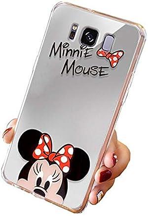 8951554b558 Todo Fundas Movil Compatible con Samsung Galaxy, Espejo Disney Mickey Mouse  Minnie Helio Kitty Dibujos