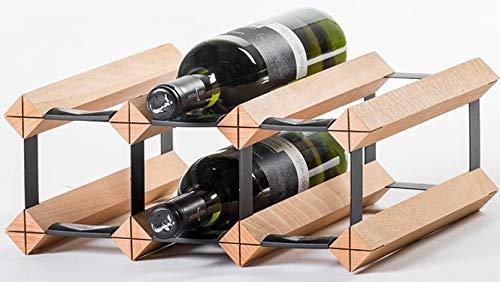 RAXI™ Classic Premium Weinregal aus Holz mit luxuriösem Design, Flaschenregal für 6 Wein Flaschen 32,5x13,5x30 cm
