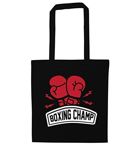 Flox Creative Tragetasche Boxing Champ Gr. Einheitsgröße, Schwarz