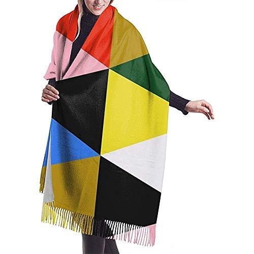 An Green EAMES Herren und Damen Winter Long Cashmere Scarf Schal Wild Soft Wool Vollbreiter einseitiger Druck