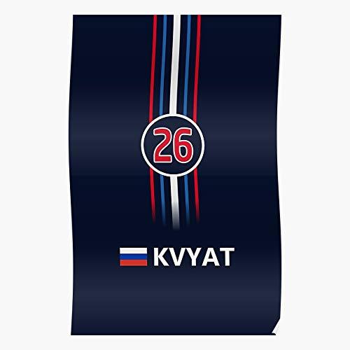 Kvyat Daniil Motorsport Formula 1 Russia Racing 2016 F1 I Formula- The Best and Newest Poster for Wall Art Home Decor Room I Customize