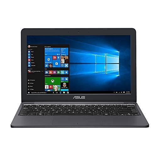 ASUS VivoBook E12 11.6' HD Laptop, Intel Celeron N3350 (2-Core), 4GB RAM, 64GB eMMC, Media Card Reader, Bluetooth, Webcam, USB 3.1, Windows 10 S, 64GB ABYS MicroSD Card, Microsoft 365 Personal 1-Year