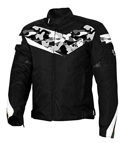 JET Motorradjacke für Roller, Moped, Pendler, Urban Rider, Schutzjacke, Textilpanzerung, ECONOTECH (Camo Grey, 4XL (121,9 cm – 127 cm)