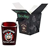 Rick and Morty Szechuan Dipping Sauce Shot Glass - Novelty Collectible Drinking Glasses - Perfect for Birthdays, Holidays, House Warming Parties
