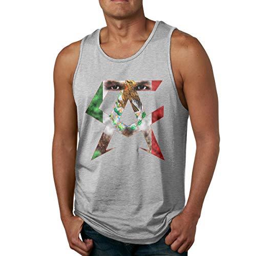 Abigails Home Canelo Alvarez(2) T-Shirts de Sport en Plein air(M,Gris)