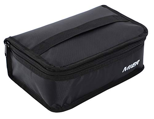 MIER Lunchbox Isoliertasche Kühltasche Provianttasche Reisekit,(Schwarz 1 Stück), MEHRWEG