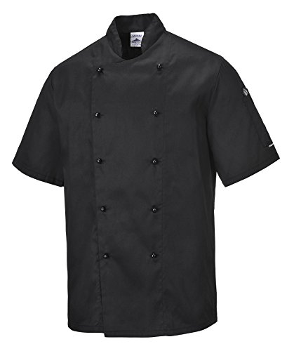 Portwest C734 Vestes de chef - Mixte Adulte - noir - M