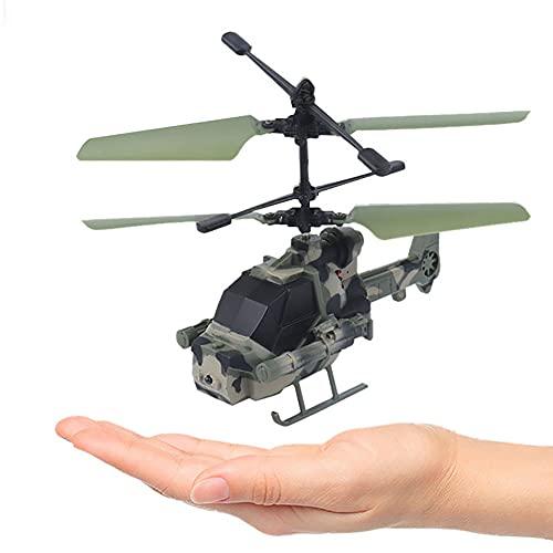 ALYHYB Mini Drone, Elicottero Telecomandato Per Bambini, Rilevamento Di Aerei Illuminazione A LED Luce Lampeggiante Aeroplano Giocattolo A Induzione Aeroplano Di Natale Regali Per Ragazzi Ragazze Adul