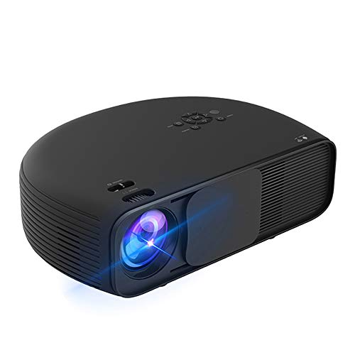 ZXCVASDF Full HD Projector, 1920 * 1080P, Support 4K, 4000 Lumens, 50,000 Hours of Use, Portable Home Theater, Compatible with VGA USB HDMI AV AUD,Black