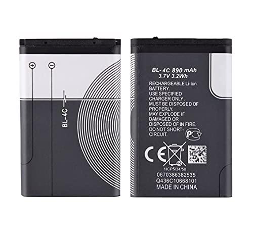 Todobarato24h Bateria BL-4C Compatible Nokia 6131, 6136, 6170, 6206, 6300, 6300i, 6301, 6600f, 6600 Fold, 7270, 7610, 7705 Twist, 8208 860 mAh