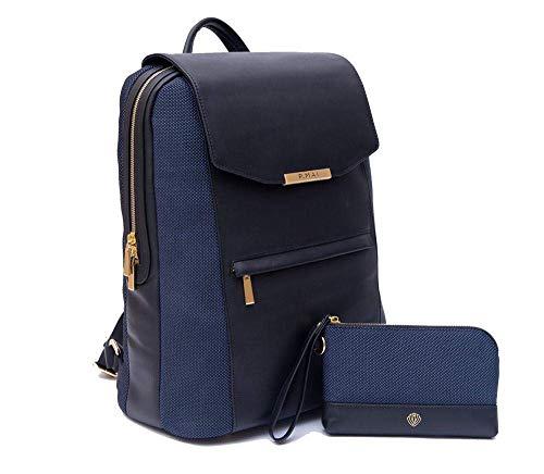 P.MAI Premium Valletta Leather Laptop Backpack