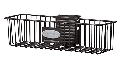Suncast Wire Storage Basket - Wire Basket Ideal for Hanging on Slat Wall, Door, Counter for Convenient and Accessible Storage - Holds up to 20 lbs. - Black
