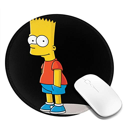 NOT Bart Simpson Stylish Round Mouse Pad 7.9X7.9 Inch Non-Slip Mouse Pad, Suitable for Home/Office/Game
