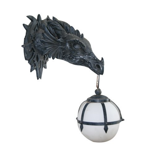 Design Toscano Marshgate Castle Dragon Sculptural Electric Wall Sconce