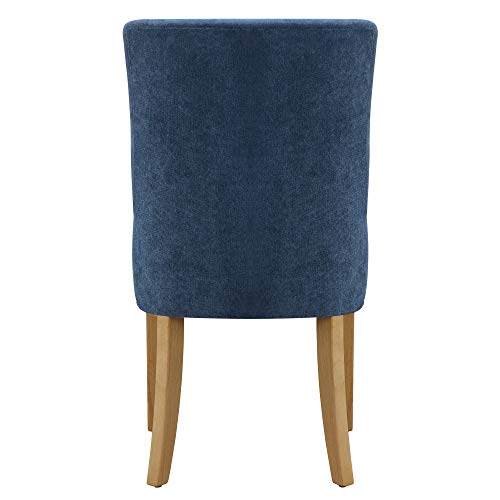 Amazon Brand – Ravenna Home Lamberton Curved-Back Dining Chair, Set of 2, 19.5
