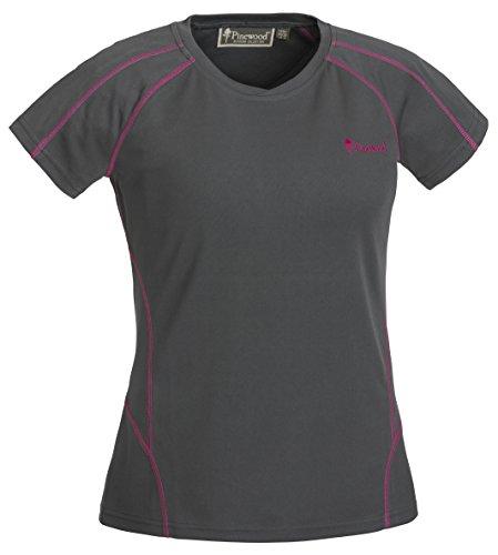 Pinewood Damen Activ T-Shirt, Grau/Pink, L
