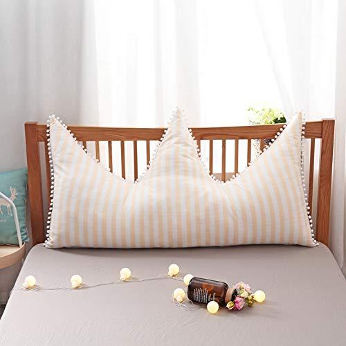 L-WWXXZY Nordische Krone Sitzkissen Weich Bett Kopfteil Lange Kissen, Sofa Bett Große Dreieckiger Keil Kissen Prinzessin Rückenlehne Positionierung Support Pillow-e 120cm/47inch