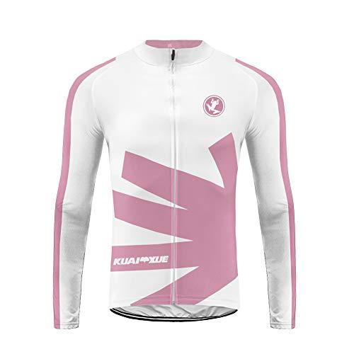 Uglyfrog Jerseys de Ciclismo de Invierno para Mujeres Trajes de Ciclismo de vellón térmico Manga Larga y Babero MTB Warm Bike Clothing ZRWL01