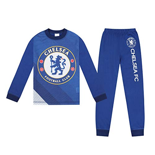 Chelsea FC Official Football Gift Boys Sublimation Long Pyjamas 11-12 Years Blue