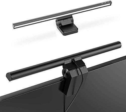 Baseus Lámpara de monitor, Lámpara de Escritorio LED USB de Lectura Electrónica con Control Táctil, Brillo y Temperatura de Color Ajustables, Cuidado de los ojos, Lámpara de Oficina con Carga USB