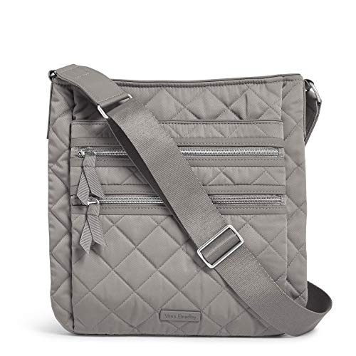 Vera Bradley Women's Performance Twill Triple Zip Hipster Crossbody Purse, Tranquil Gray, One Size
