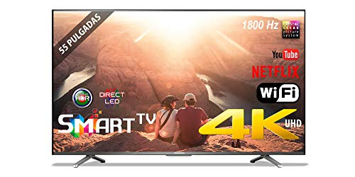 "TV LED 55"" INFINITON 4K INTV-55 WiFi Smart TV 1800Hz HDR USB HDMI"