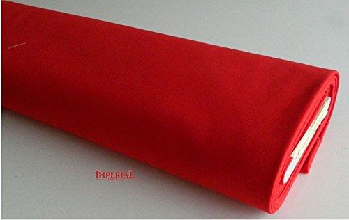 Imperial Tendaggi Tessuto Panno A METRAGGIO per TAVOLI da Gioco Panno LENCIO Alto CM 150 Colore Rosso