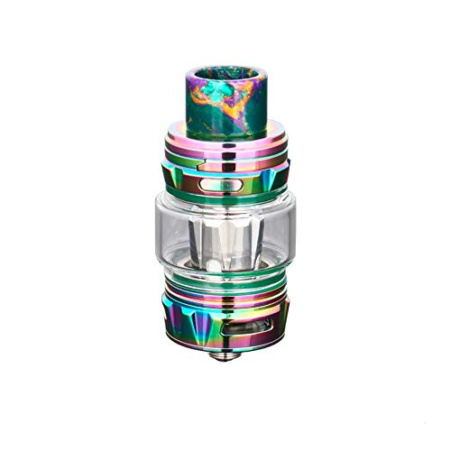 Horizontech Falcon King Vape Tank (arco iris), con cristal de burbujas gratis, sin nicotina ni tabaco