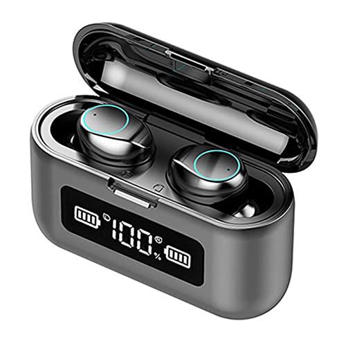 Moares F9 auricular inalámbrico 9D estéreo Bass auriculares impermeable táctil LED pantalla digital para deportes conducción negro 1