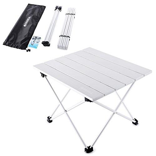 YAHILL® Campingtisch Alu Klapptisch Aluminium ideal Reisetisch Falttisch Gartentisch klappbar Tisch für Camping Outdoor Picknick BBQ Wandern Reise Angeln Urlaub in Tasche tragbar(Größe- S)
