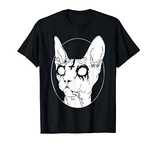 Camisetas Goth y Death Metal - Black Metal Sphynx Cat Camiseta