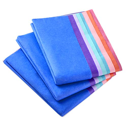 Hallmark Tissue Paper (Rainbow Color, 8 Colors) 120 Sheets for Easter, Mothers Day, Birthdays, Gift Wrapping, Crafts, Paper Flowers, Tassel Garland and More