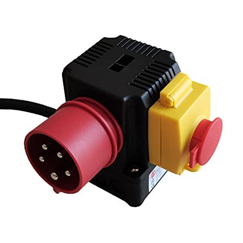 Interruptor electromagnético impermeable KEDU Combinación interruptor-enchufe europeo Interruptor de botón de parada de emergencia industrial trifásico KOA1L 8A (AC-15) 12A (AC-3) AC 400V IP54 CE