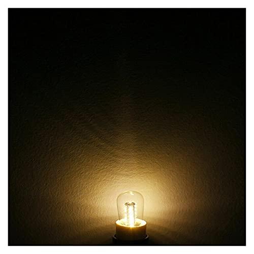Lampada Mais Lampada da forno a microonde MINI T22 3W LED. Bulbo di mais. E14 E12. Frigorifero da cucina freddo/caldo bianco AC 110V 220V. (Emitting Color : Warm)