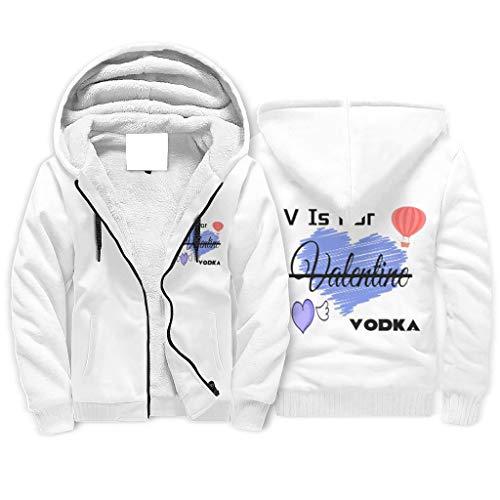 LIFOOST Hooded Sweatshirt V ist für Valentine Wodka Herren Komfort Lässig Lange Ärmel Kapuze White s