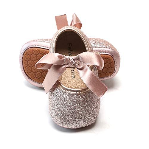 Felix & Flora Infant Baby Girls Shoes Soft Rubber Sole...