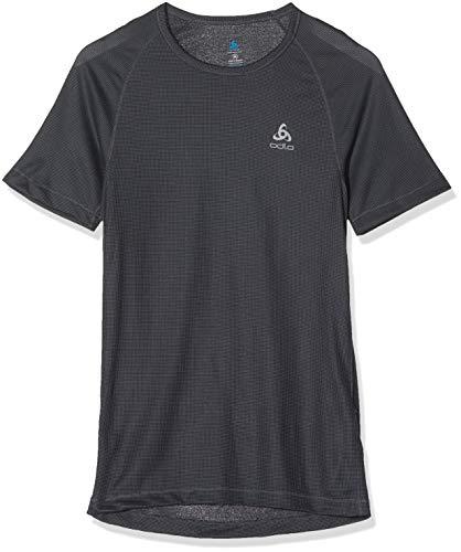 Odlo Bl Top Crew Neck S/S Active Cubic Light - Camiseta Interior para Hombre (2 Unidades), Hombre, Camiseta, 192282_15000_S, Negro, Small