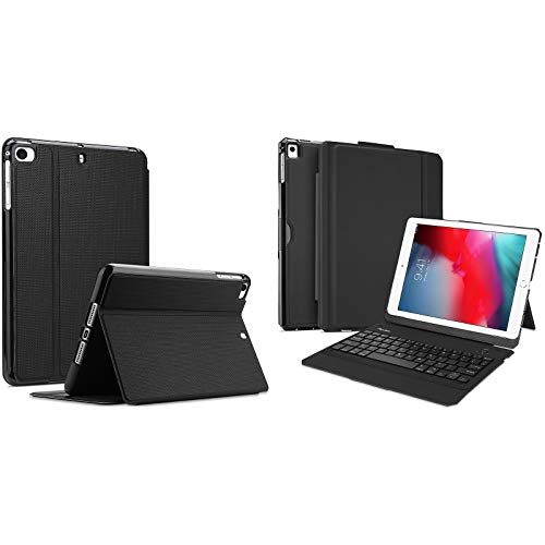 ProCase iPad Mini Case for iPad Mini 5 2019/ Mini 4, Mini 1 2 3, Slim Stand Protective Folio Case Bundle with Detachable Wireless Keyboard Case for iPad 9.7 2018/2017 (Old Model)