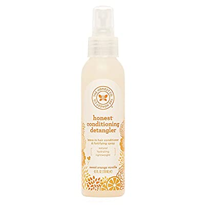 The Honest Company Sweet Orange Vanilla Conditioning Detangler Spray Lightweight Leave-in Conditioner & Fortifying Spray Paraben & Synthetic Fragrance Free Plant-Based VEGAN 4 fl. oz.